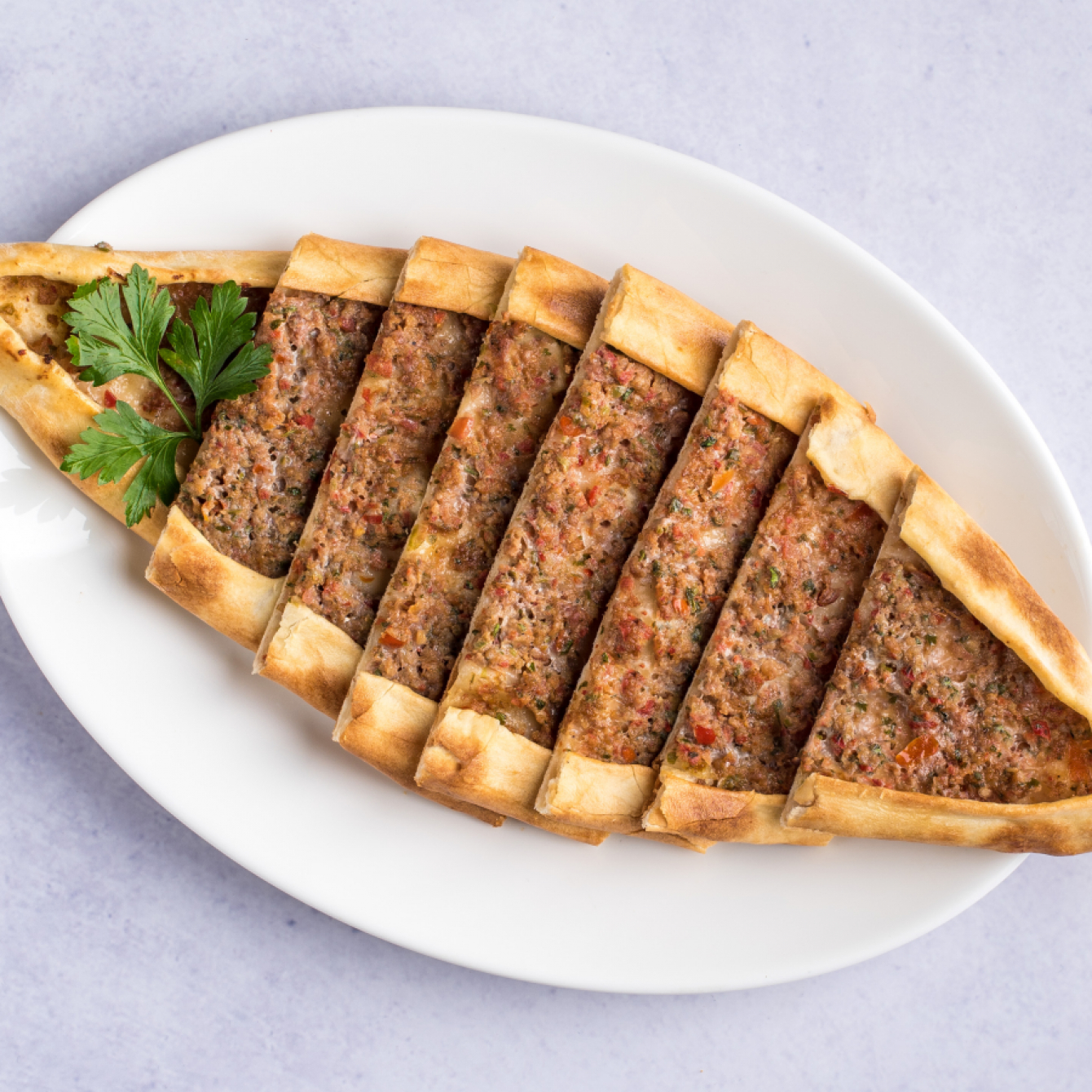 Ground beef pide